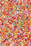 Il neon variopinto della foto spruzza le caramelle per uso del fondo, v superiore Fotografia Stock Libera da Diritti