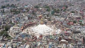 Il Nepal, Kathmandu Boudhanath Stupa Metraggio aereo archivi video