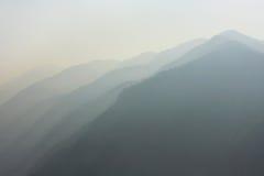 Il Nepal, mattina in Himalaya Fotografia Stock