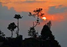 Il Nepal. Nagarkot Fotografie Stock Libere da Diritti