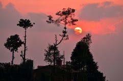 Il Nepal. Nagarkot Fotografia Stock Libera da Diritti