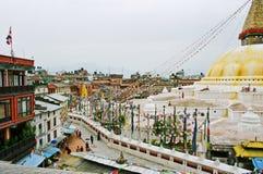 Il Nepal, stupa Bodhath. Fotografia Stock