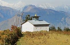 Il Nepal, tempiale buddista. Fotografia Stock