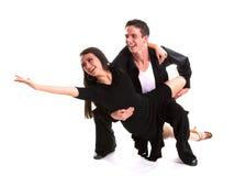 Il nero 03 dei danzatori della sala da ballo Fotografia Stock