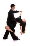 Il nero 04 dei danzatori della sala da ballo Fotografie Stock