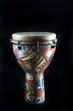 Il nero africano Bk del tamburo di Djembe Fotografia Stock Libera da Diritti
