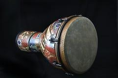 Il nero africano Bk del tamburo di Djembe Fotografie Stock Libere da Diritti