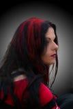 Il nero & colore rosso Fotografie Stock Libere da Diritti
