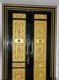 Il nero antico dell'oro della porta Immagini Stock