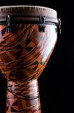 Il nero arancione Bk del tamburo di Djembe Fotografie Stock Libere da Diritti