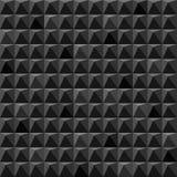 Il nero astratto cuba il fondo geometrico Fotografie Stock
