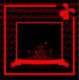 Il nero astratto di vettore dell'illustrazione della molla del fiore Immagini Stock Libere da Diritti