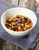 Il nero Bean Salsa della patata dolce Immagini Stock