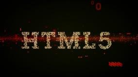 Il nero binario di parole chiavi HTML5 illustrazione di stock