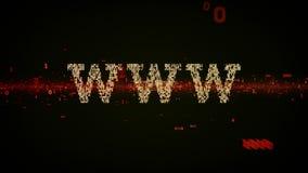 Il nero binario di WWW di parole chiavi royalty illustrazione gratis
