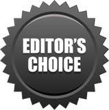 Il nero choice del bollo della guarnizione del ` s del redattore Fotografia Stock