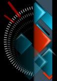 Il nero, colore rosso ed azzurro astratti geometrici della priorità bassa Fotografia Stock Libera da Diritti