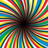 Il nero concentrare di rotazione Immagini Stock