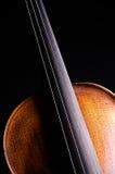Il nero costoso Bk del violino Fotografia Stock Libera da Diritti