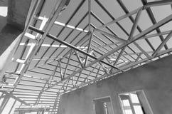 Il nero d'acciaio del tetto e White-11 Immagine Stock