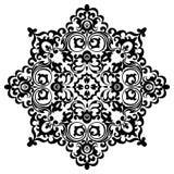 Il nero decorativo d'annata della mandala del modello Immagini Stock Libere da Diritti