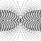 Il nero decorato dell'estratto degli anelli illustrazione vettoriale