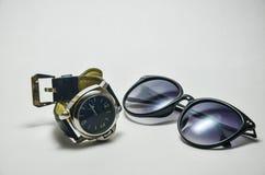 Il nero degli occhiali da sole Immagini Stock Libere da Diritti