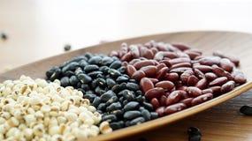 Il nero dei fagioli e il multigrain rossi dello strappo del lavoro protien l'alimento Immagini Stock