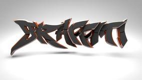 il nero dei graffiti 3D Fotografie Stock