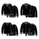 Il nero dei maglioni Immagini Stock