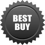 Il nero del bollo della guarnizione di Best Buy Immagini Stock