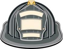 Il nero del casco del pompiere Fotografia Stock Libera da Diritti