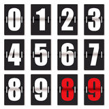 Il nero del contatore di orologio di numero illustrazione di stock