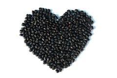 Il nero del cuore Fotografia Stock Libera da Diritti