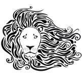 Il nero del leone Fotografia Stock