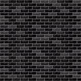 Il nero del muro di mattoni di vettore illustrazione di stock