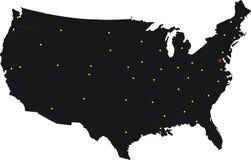 Il nero del programma degli S.U.A. Fotografie Stock Libere da Diritti