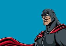 Il nero del ritratto del supereroe Fotografia Stock Libera da Diritti