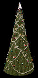 Il nero dell'albero di Natale Immagine Stock