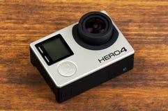 Il nero dell'eroe 4 di GoPro Immagine Stock Libera da Diritti