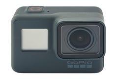 Il nero dell'EROE 6 di GoPro isolato Immagine Stock Libera da Diritti