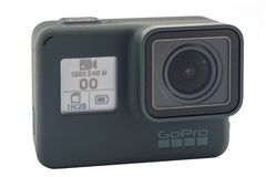Il nero dell'EROE 6 di GoPro isolato Immagini Stock Libere da Diritti