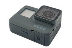 Il nero dell'EROE 6 di GoPro isolato Fotografia Stock Libera da Diritti
