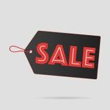 Il nero dell'etichetta di vendita Fotografia Stock Libera da Diritti