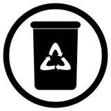 Il nero dell'icona del recipiente Fotografia Stock