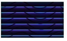Il nero dell'onda dell'estratto a fondo ed alla carta da parati blu e astratti - vettore eps10 illustrazione di stock