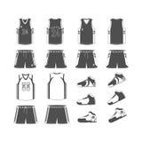 Il nero dell'Sport-Pallacanestro-uniforme Immagini Stock Libere da Diritti