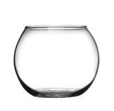 Il nero della ciotola di vetro Immagine Stock