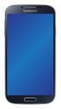 Il nero della galassia S4 di Samsung Immagine Stock Libera da Diritti