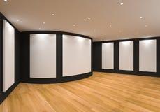 Il nero della galleria Immagini Stock Libere da Diritti